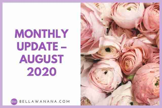 Monthly Update – August 2020