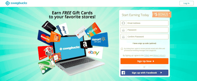 swagbucks review sign up page